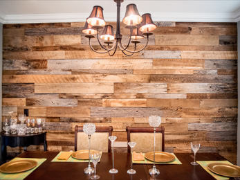 RECLAIMED DINING ROOM TABLES Orlando Reclaimed Wood Walls