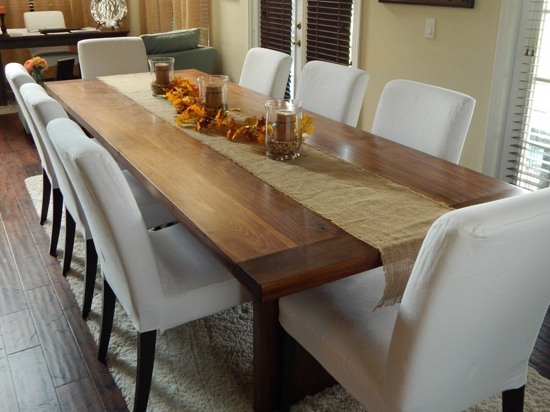 Reclaimed wood walnut dining room table