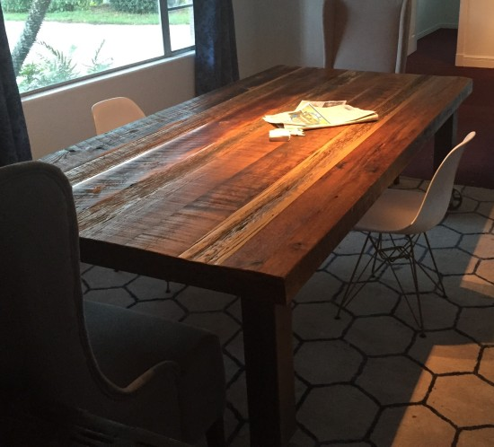 Orlando Reclaimed barn wood farmhouse dining table