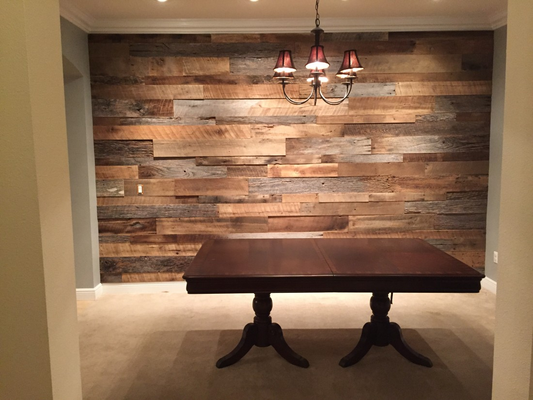 Reclaimed Wood Wall Accent