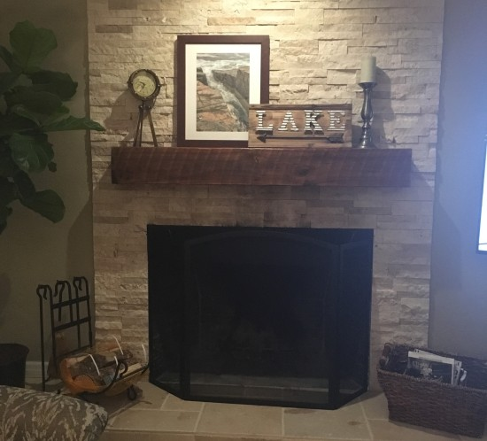 orlando reclaimed wood mantle