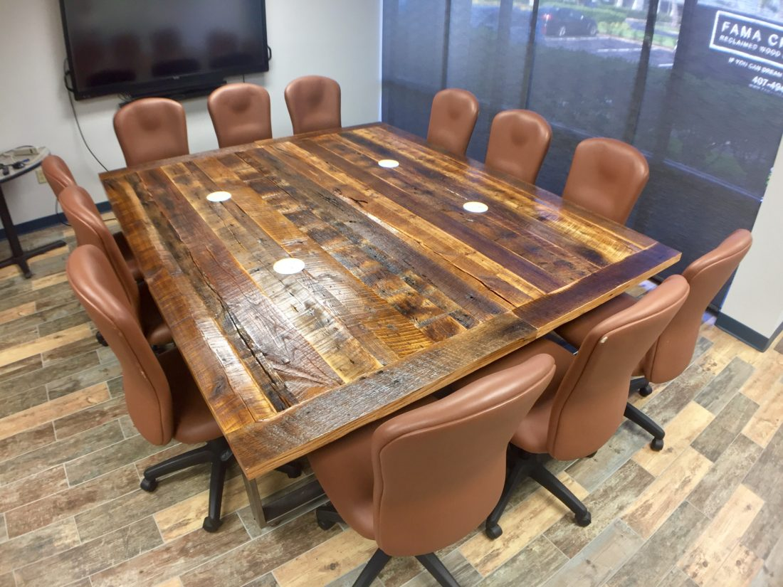 Exceptionnel Orlando Reclaimed Wood Table ...