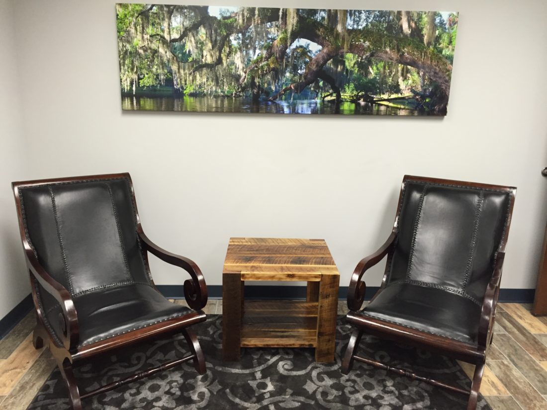 Reclaimed Wood End Table orlando