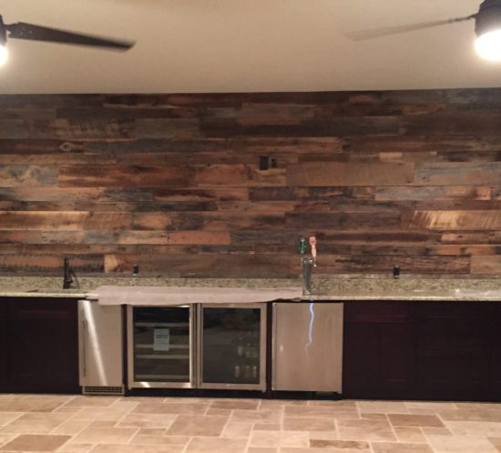 Pine Accent Wall: Orlando Reclaimed Wood Walls