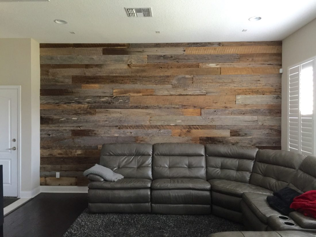 Reclaimed Wood Accent Wall Orlando