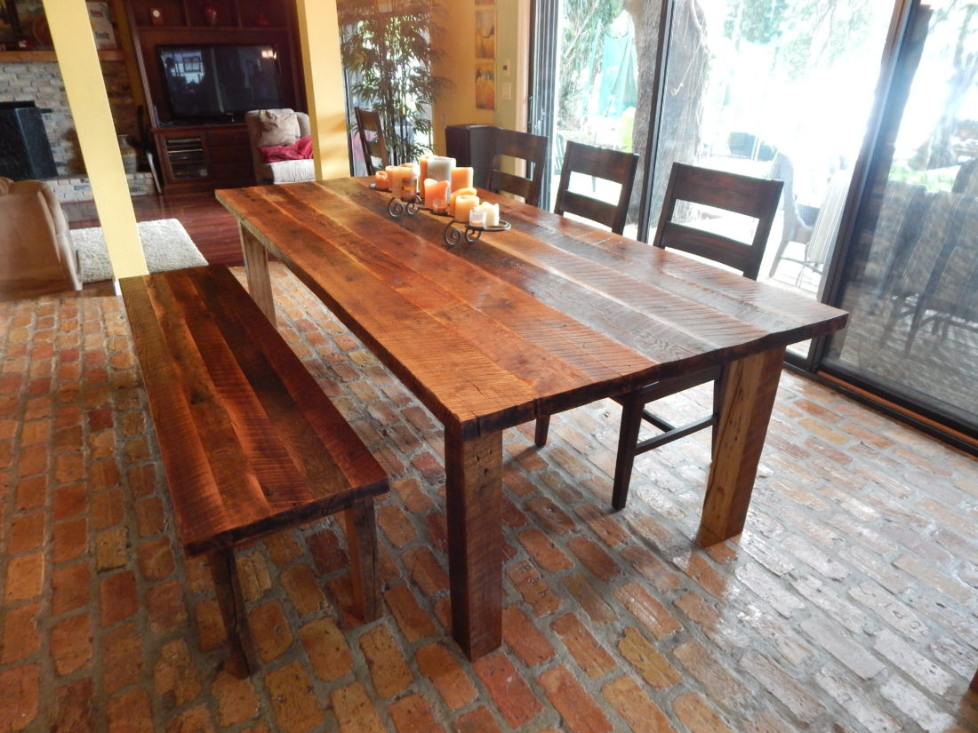 Reclaimed Lumber Harvest Style Dining Table Orlando ...