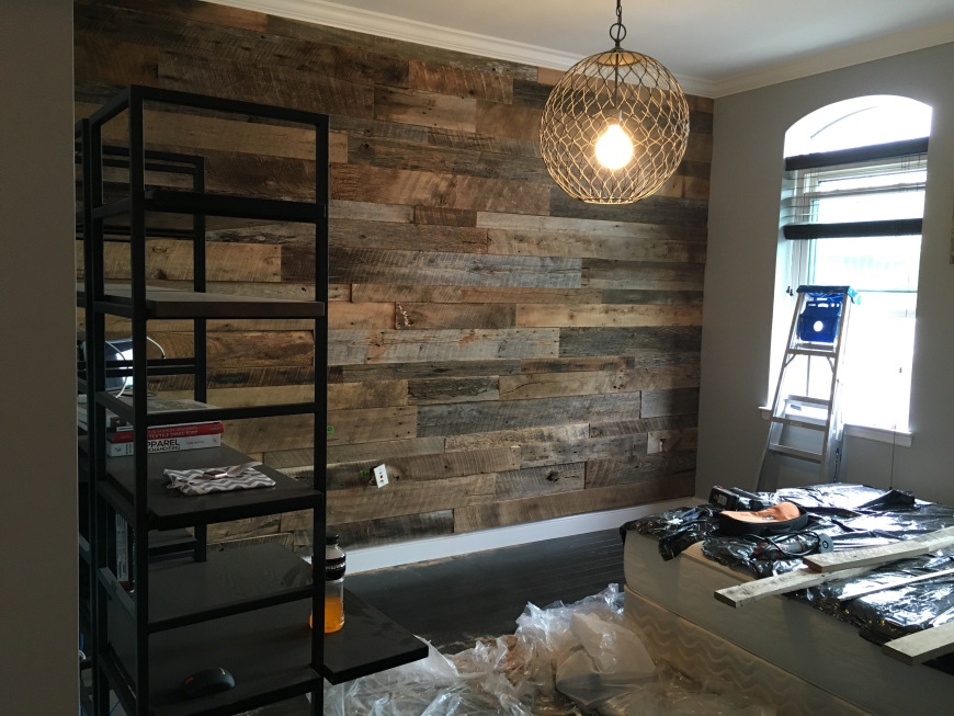 Kristy S Master Bedroom Reclaimed Wood Accent Wall Fama