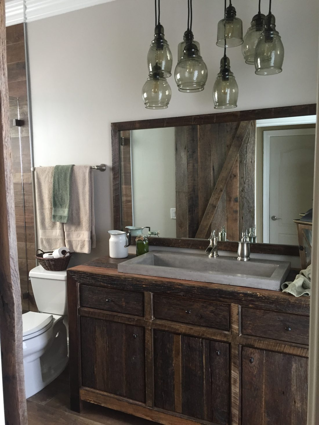 Robbies Rustic Reclaimed Wood Bathroom Vanity Fama Creations - Reclaimed wood bathroom vanity for sale