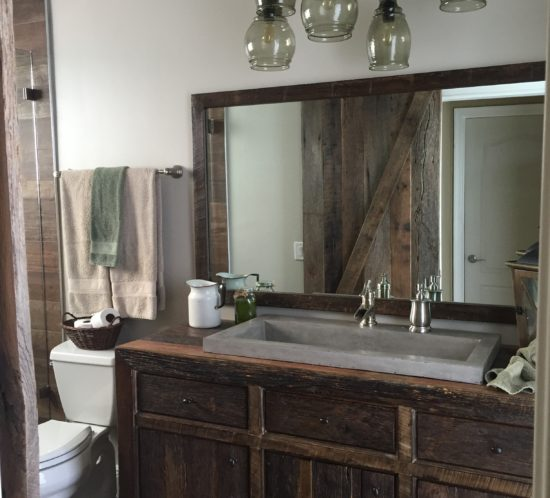 orlando reclaimed barn wood bathroom cabinet
