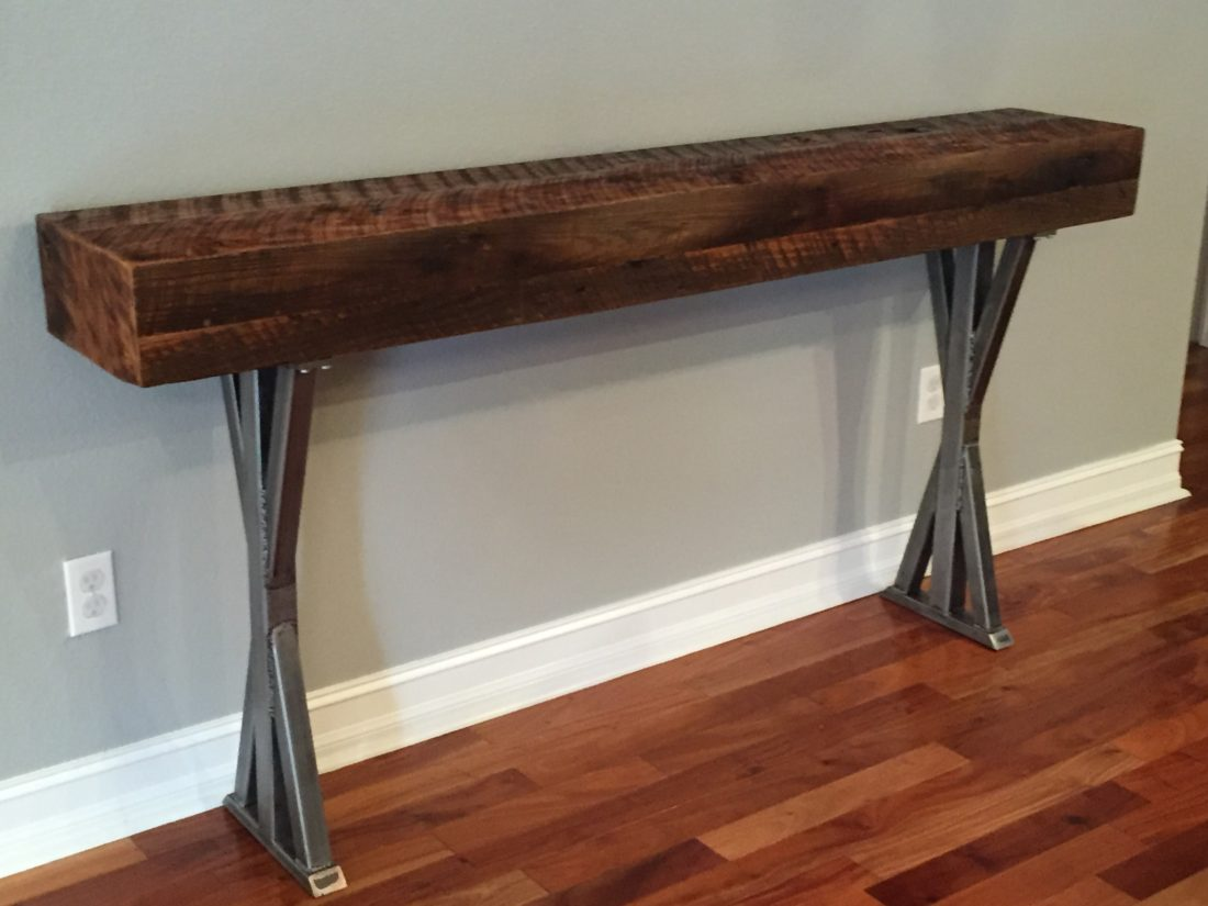 orlando custom wood foyer table