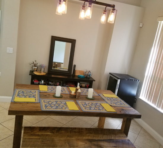 Orlando Reclaimed wood dining table