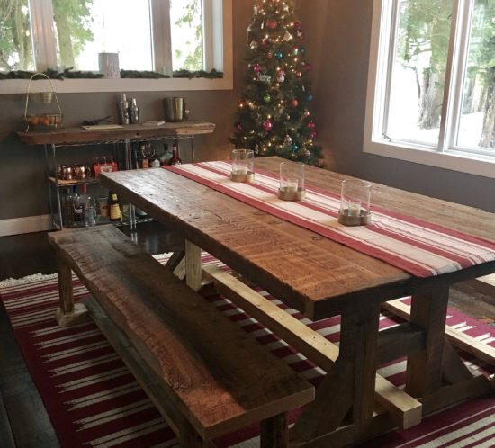 Orlando reclaimed wood tables custom wood tables for Farmhouse table plans with x legs