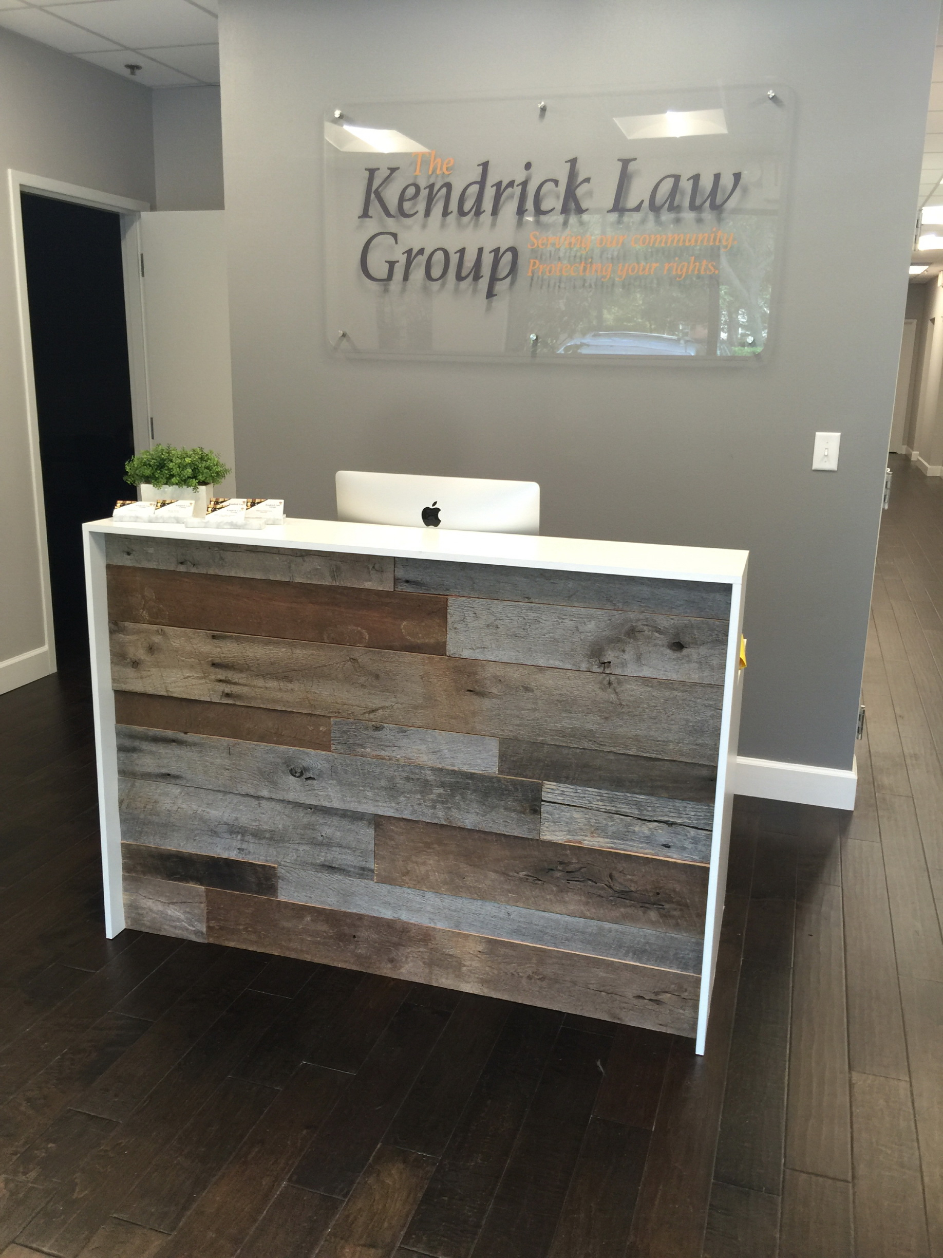 Kendrick Law Group S Reception Desk Fama Creations