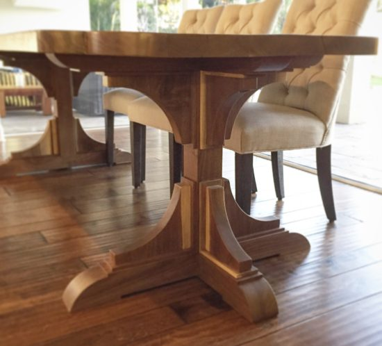 Angelau0027s Stunning Walnut Wood Trestle Table